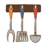 silver rack utensils kitchen icon Royalty Free Stock Images