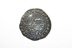 Silver Real of the Catholic Kings Royalty Free Stock Photography