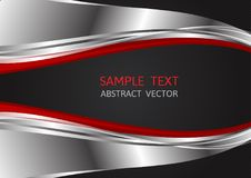 Silver, Red and Black color, abstract vector background with copy space for business, Graphic design vector illustration