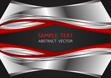 Silver, Red and Black color, abstract vector background with copy space, Graphic design royalty free illustration