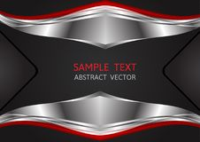 Silver, Red and Black color, geometric abstract vector background.  Stock Photo
