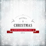 Silver red Christmas card Royalty Free Stock Image