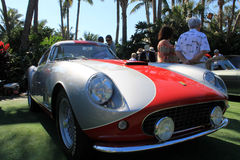 Silver and red italian ferrari 03 Royalty Free Stock Image