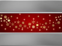 Silver and red winter background Stock Photography