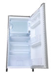 Silver refrigerator open Royalty Free Stock Image