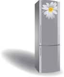 Silver refrigerator Stock Photos