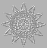 Silver relief decorative motif Royalty Free Stock Photo