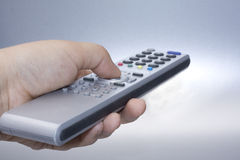Silver remote control Stock Photos