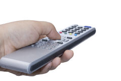 Silver remote control Stock Photo