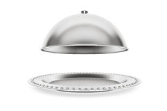 Silver Restaurant cloche Stock Images