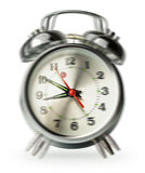Silver retro alarm clock Royalty Free Stock Photography