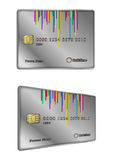 Silver retro credit card design Royalty Free Stock Photos