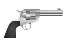 Silver revolver Stock Image