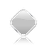 Silver rhomb icon Stock Photo