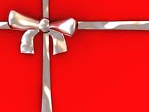 Silver ribbon Stock Image