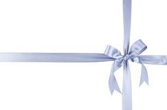 Silver ribbon. Christmas. Silver ribbon on a white background Stock Photos