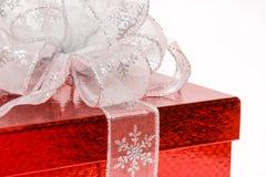 Silver ribbon closeup Royalty Free Stock Photos