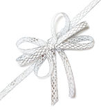 Silver ribbon isolated Royalty Free Stock Photos
