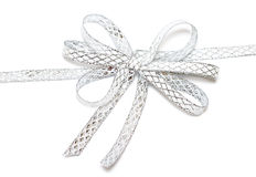 Silver ribbon isolated Royalty Free Stock Photography