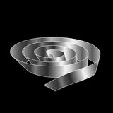 Silver Ribbon scroll Stock Images