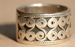 Silver ring royalty free stock image