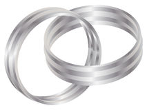 Silver ring. For wedding vector illustration Stock Photography