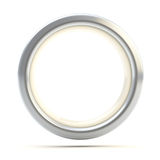 Silver ring copyspace torus isolated. On white Stock Image