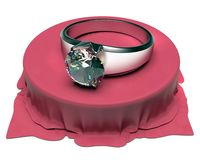 Silver Ring and diamond Royalty Free Stock Photography