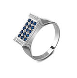 Silver ring with diamonds Royalty Free Stock Images