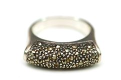 Silver ring isolated Royalty Free Stock Photo