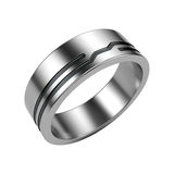 Silver ring isolated on white Royalty Free Stock Photography
