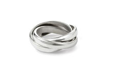 Silver rings Stock Photography