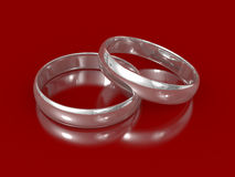 Silver rings Stock Image