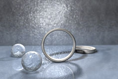 Silver Rings Royalty Free Stock Images
