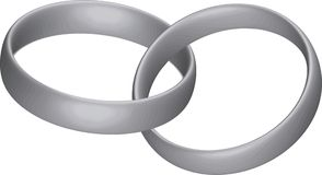 Silver rings. Illustration of two silver rings Royalty Free Illustration
