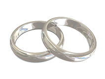 Silver rings Stock Images