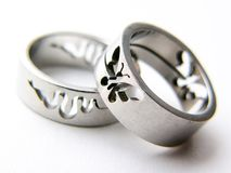 SILVER RINGS Royalty Free Stock Image