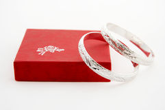 Free Silver Rings On Gift Box Stock Photos - 4042793