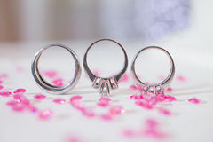 Silver rings Royalty Free Stock Photo