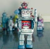 Silver robot Royalty Free Stock Photos