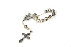 Silver rosary Stock Photos