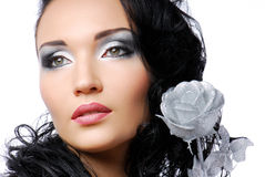 Silver rose. Stock Image