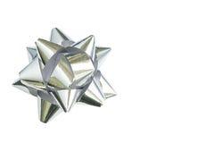 Silver rosette on white Royalty Free Stock Photos