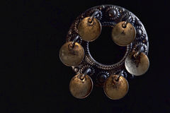 Silver round brooch pendants Stock Photo