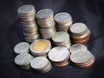 Silver Round Coins Stock Royalty Free Stock Images
