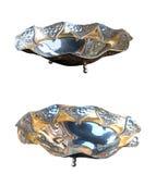 Silver round vase Stock Photography