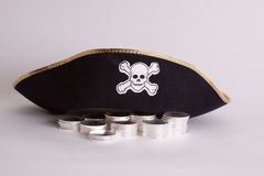 Silver rounds or bullion or treasure. Stock Images