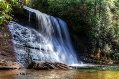 Silver Run Falls North Carolina Royalty Free Stock Image