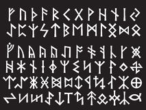 Silver Runic Script Royalty Free Stock Images