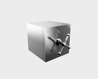 Silver safe Royalty Free Stock Photo